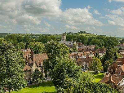 Panorama from Winchester Cathedral  at Visit Hampshire